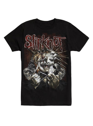 Slipknot Ripped Masks Black T-Shirt For Men,Outfit
