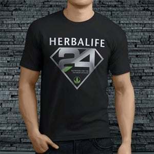 Short Sleeve Tops -HERBALIFE Nutrition 24 Tee Men Fashion T-Shirt Short Sleeves Tee Shirt Tops(S-XXXL)
