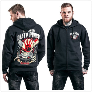 Five Finger Death Punch Got Your Six Hooded Zip Hoodies & Sweatshirts Pullovers Coat