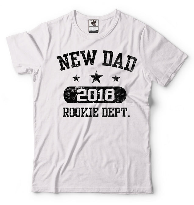 Fathers Day Gift New Dad 2018 T-Shirt Tops Tee Funny Dad Maternity New Father Dad Daddy Tee Shirt(S-XXXL)