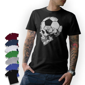 Football Skull Jersey  Soccer Skull 2018 Germany Old School Men's T-Shirt Tee Tops