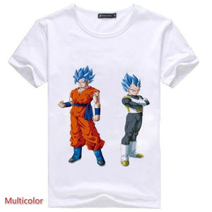 Anime Dragon Ball Z Super Saiyan Man Super Soft Elastic Comfortable T-Shirt Tee Tops