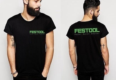 New 1Festool Logo Two Side 100% Cotton Short Sleeve T-Shirt Tee Tops