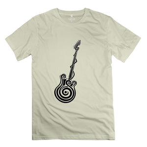 Cotton Heavy Rock Guitar Swirls Great Band TShirt Tee Tops Tee Shirt Tee Topss For Guy Desertsand Size XS