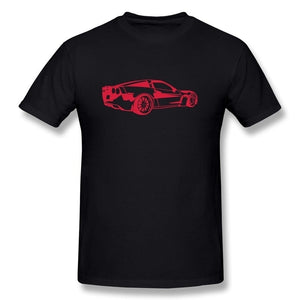 100% Cotton Men's Corvette DIY Round Neck T Shirt Tee Tops