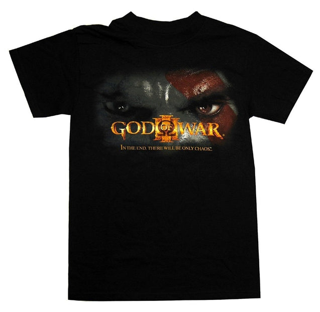 Summer Shirt Tops Tee-God Of War III Kratos Face Logo In The End Video Game Adult T Shirt Fashion