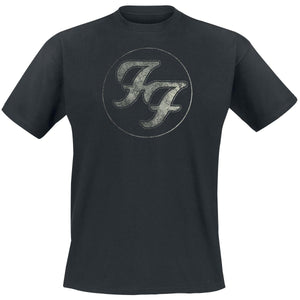 Summer Men Fashion Short Sleeve Tee Tops Logo In Circle     Foo Fighters T-shirt Tee Tops  Printed T Shirt O Neck Top Tshirt