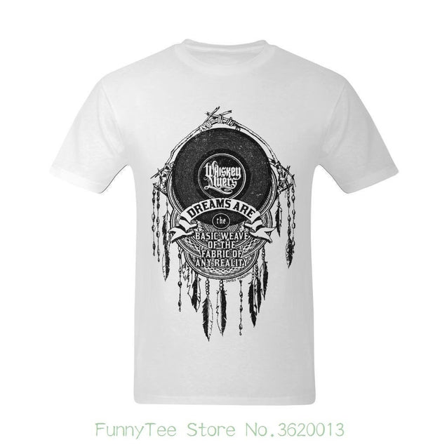 Men Whiskey Myers&Dream Hanging Drop Design Customized O Neck T Shirts
