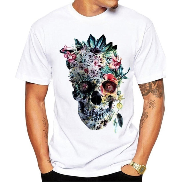 Men Cartoon T-shirt Tee Tops Print TShirt Short Sleeve Men Clothing Tee