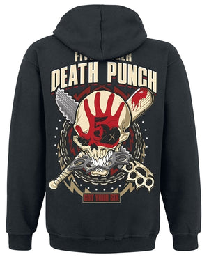 Men Five Finger Death Punch Got Your Six Hooded Zip Hoodies & Sweatshirts Coat Pullovers