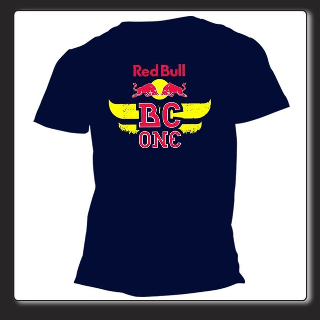Summer Shirt Tops Tee-T Shirt Unisex Red Bull BC One Breakdance Cico B-Boyng Black Navy+bimbo Nera