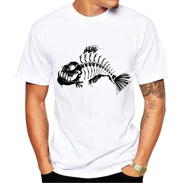 Couple's fish  Printed Cotton Short Sleeves T-shirt Shirt Tee Tops,casual T-shirt Shirt Tee Tops
