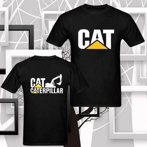 Cat Jcb Excavator Machine Power System by Caterpillar Men's T-shirt Shirt Tee Tops