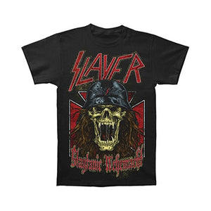 Slayer Men's Wehrmacht Skull T-shirt Shirt Tee Tops Black