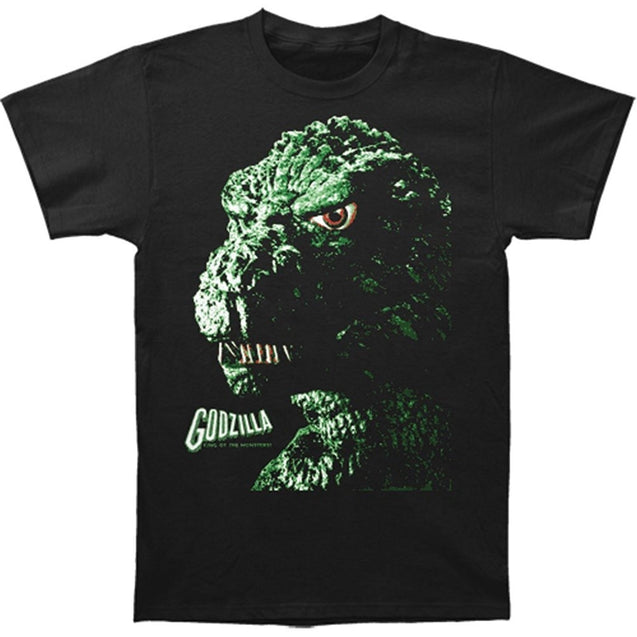 Men's Godzilla Portrait Face Head T-shirts Tops Tee Printed Cotton Casual T Shirts Fashion