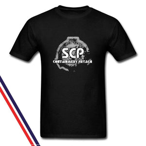 Gildan Style Men SCP Containment Breach Short Sleeve T-Shirt Shirts Tee Tops Casual Clothes