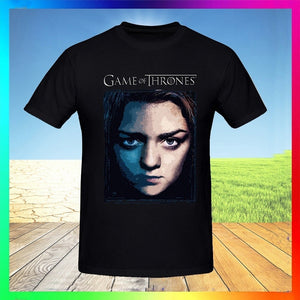 Maisie Williams Game of Thrones's T-Shirt Shirts Tee Tops for Men Black