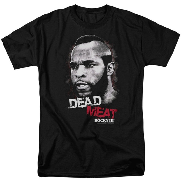 Rocky III Clubber Lang Dead Meat Movie Men's T-shirts Tops Tee Tee