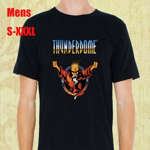 Thunderdome Hardcore Techno Mens T-shirts Tops Tee Cotton Men Printed Short Sleeves Funny Graphic Tees