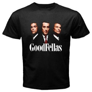 New Goodfellas *Three Wise Men Gangster Movie Men's Black T-shirts Tops Tee Size S to 3XL