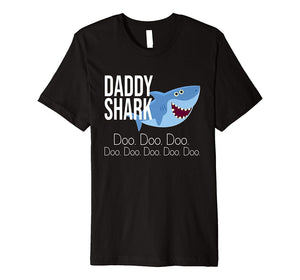 """Daddy Shark"" Baby Mommy Daddy Matching Family Shark T-Shirt"