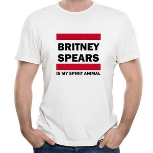 Men's Britney Spears Is My Spirit Animal Short T-shirt Casual Cotton T-shirt