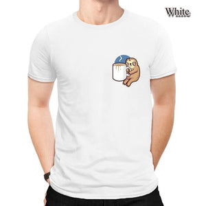 Men's Sloth Print Cute Funny Pure Cotton Many Colors Casual Simple 90s Fashion T-Shirt