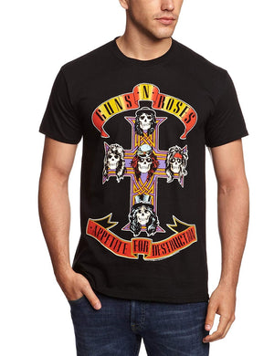 Mens Guns N Roses - Appetite For Destruction Men's T-Shirt