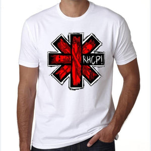 Fashion Red Hot Chili Peppers T-Shirt Hip Hop Vintage Official Licensed Beige Tee NEW RHCP Rock T-Shirt Tops Men Tshirt Homme