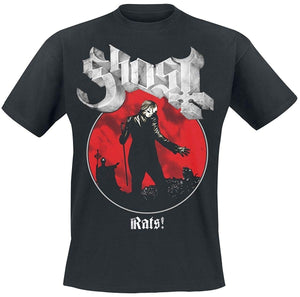 Men Ghost Rats Admat T-Shirt Black