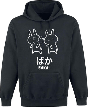 Funny Anime Baka Rabbit Slap Shirt - Baka Japanese Hooded Hoodies