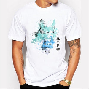 2017 New Arrivals Totoro with Mini Totoros Men T Shirt Printed t-shirt Short Sleeve Casual Basic Tops Cool Tee Shirts