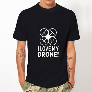 2017 Hispter Men t shirt Fashion Personality Design Short Sleeve Tops I LOVE MY DRONE! Printed Casual Basic Tees