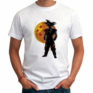 2017 Summer Men's T Shirts Anime Looking for the Dragon Balls and his four stars ball Printed Tops Tees Fashion Goku Tee Shirts