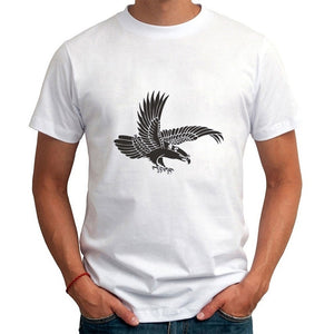 2017 New Summer Style Men's Short Sleeve T-Shirt Eagle Printing Casual All-match Men Clothing