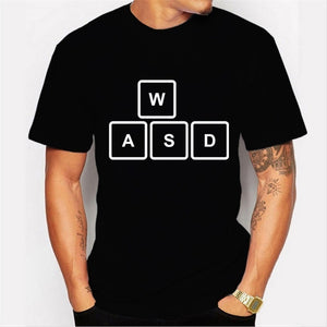 2017 New Fashion Cute Square Design Men's High Quality T Shirt Cool Tops Hipster Style  WASD  Printed Casual T-shirt