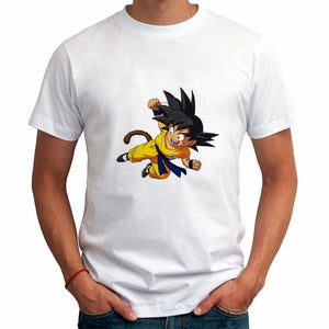 2017 Men's Fashion Japan Anime Dragon Ball Z T Shirt  Printed  Tee Hipster  Tops