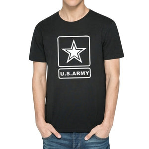 2017 Men's Summer Casual Tops Hipster  U.S.ARMY  Printed Five-pointed star Design T Shirt Fashion Hipster Tees