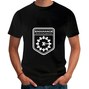 Adventure Movie Interstellar \Endurance Space\  T Shirts Summer New Tees Men  Custom T-shirts Tops