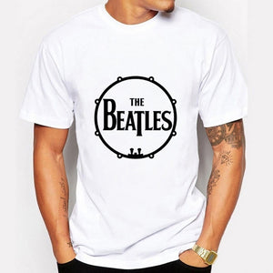 Summer  Rock And Roll T Shirt  \The Beatles\ printed T-Shirt Men Casual Short Sleeve Tops Tees