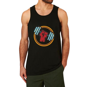 Loo Show Force Dumbbell Graphic Fitness Gym Workout Tank Tops men