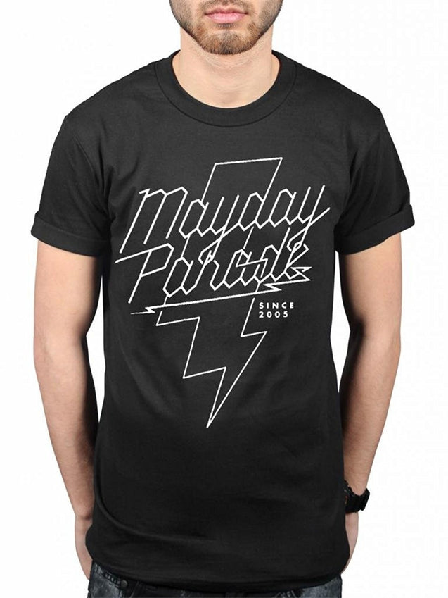 Men's Summer Fashion T-shirt MayDay Parade Lightening Bolt T-Shirt Men's Funny T-shirt