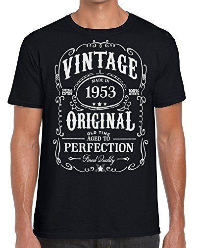 Fashion Men's T-Shirt Vintage Made In 1953 Aged To Perfection Ideal Present T Shirt Mens Funny Tshirts
