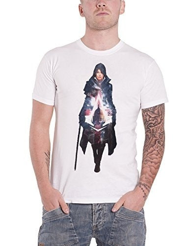 Custom Funny T Shirts Assassins Creed T Shirt Syndicate Evie Frye Official Mens White Short Sleeve Men's Casual T-shirt
