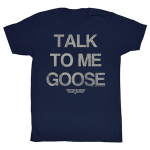 Mens Top Gun Talk To Me Goose Movie Action Drama Navy Blue Adult T-Shirt Tee