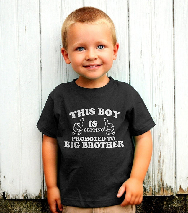 ThisBoy Is Getting Promoted To Big Brother Kids T-Shirt With Stickers
