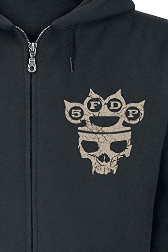 Five Finger Death Punch Armour Hooded Zip Hoodies & Sweatshirts Black