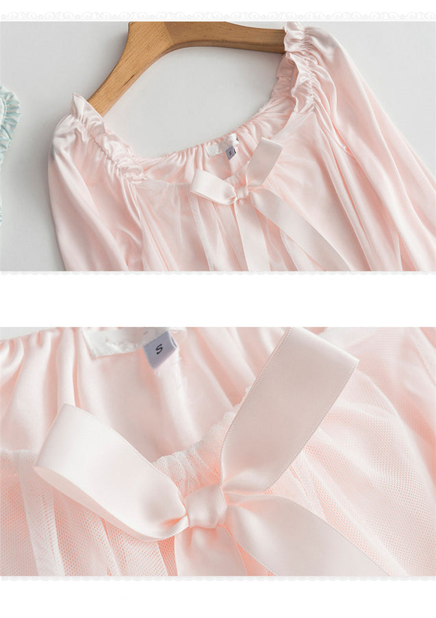 Sex Appeal Sleeps Skirt Female Spring Summer Sweet Lovely Korea Version Princess Pajama Net Gauze Ice Silk Sleep Skirt