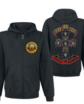 Jumbo Apetite for Destruction Men's Guns N Roses Bullet Hoody Zip-up Gildan Unisex Hooded Hoodie
