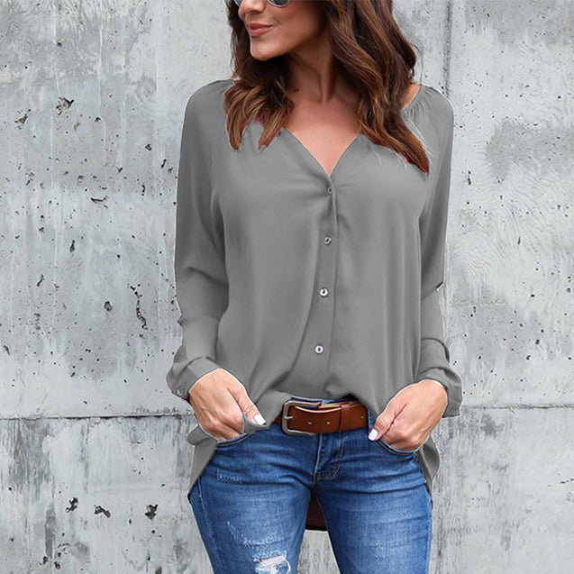 Women Plus Big Size S-5XL Loose Casual Chiffon Blouse